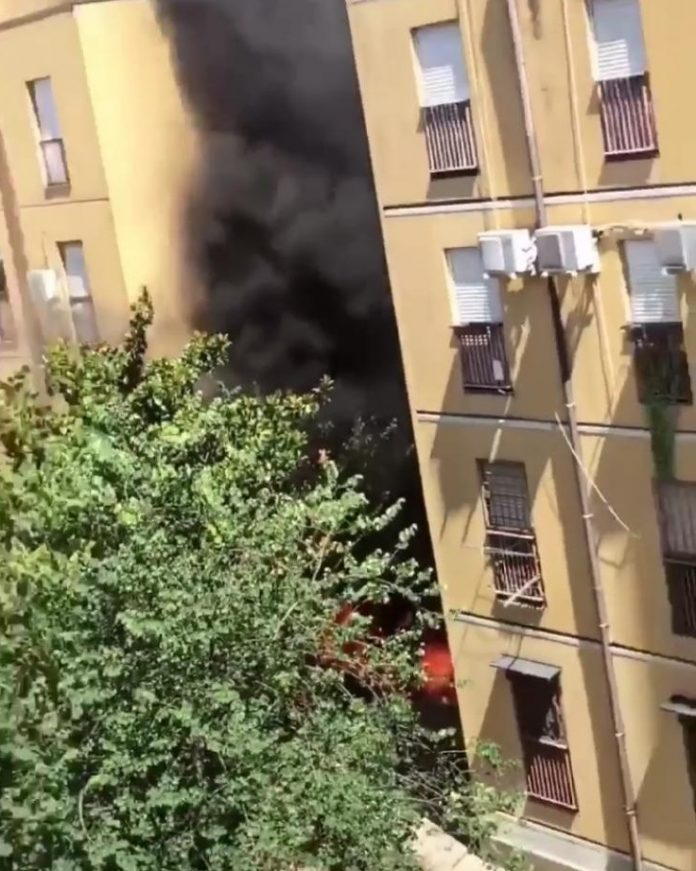 Incendio al Quartaccio