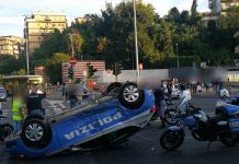 auto polizia incidente
