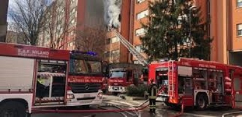 Due morti a Milano per un incendio in uno stabile